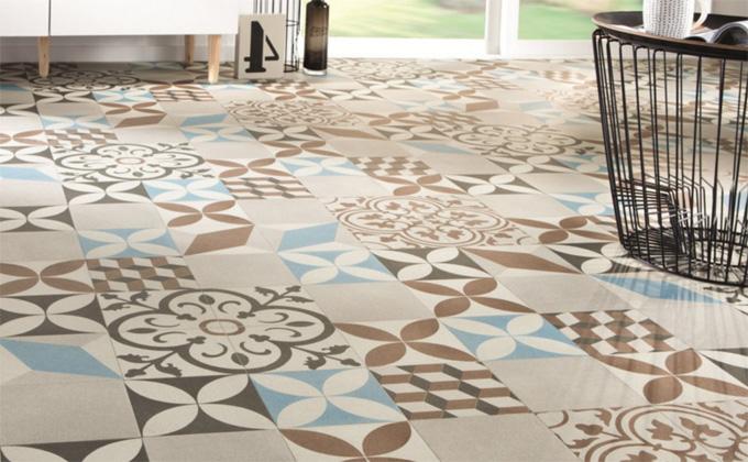 Le sol vinyle imitation carreau de ciment, la déco parfaite!
