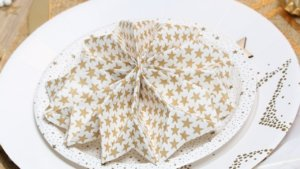 pliage serviette flocon