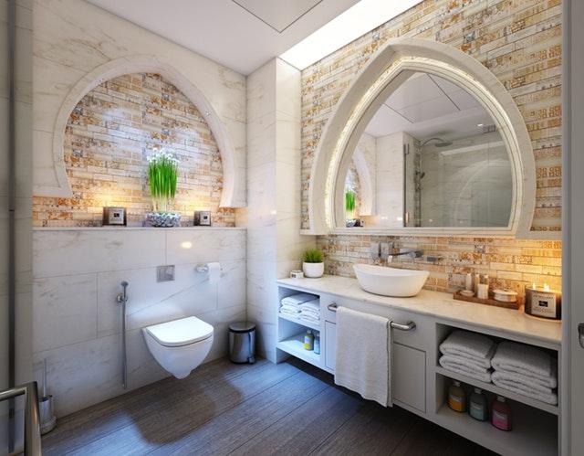 Exemple de salle de bain bien décoré