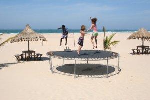 Pour chaque forme de trampoline, il existe de différentes tailles.