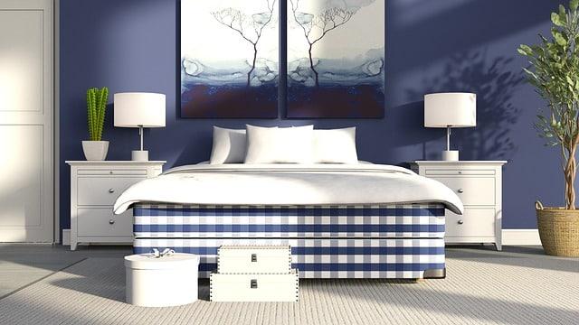 Intégrer du bleu canard dans votre chambre à coucher