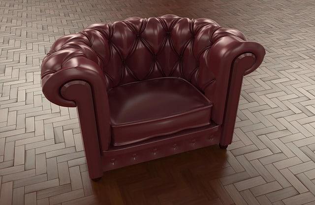 Le fauteuil est conçu avec des ressors ou des sangles