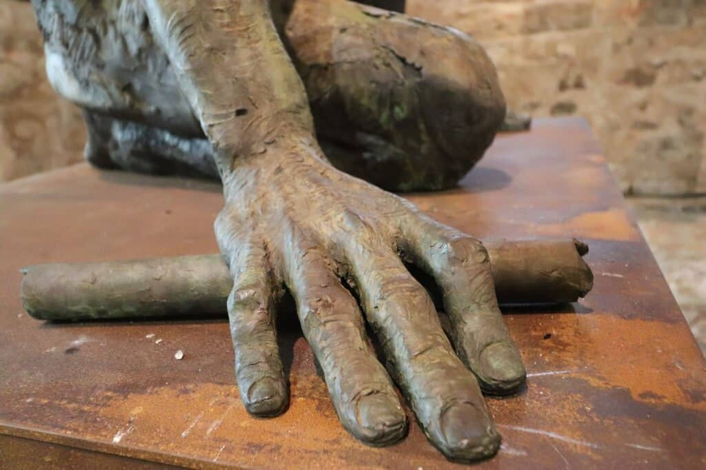 décoration avec statue en résine